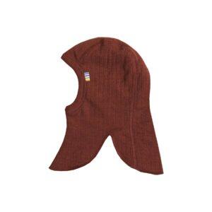 Joha elefanthue i uld. Dobbelt lag. Rust-rød.