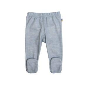 Leggings til for tidligt født baby. Joha præmatur leggings i uld bambus. Blå.