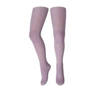 Strømpebukser med dutter. Skridsikre strømpebukser fra MP. Rosa uld.