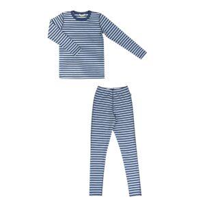Joha nattøj til barn. Skiundertøj i uld. Stribet blå.