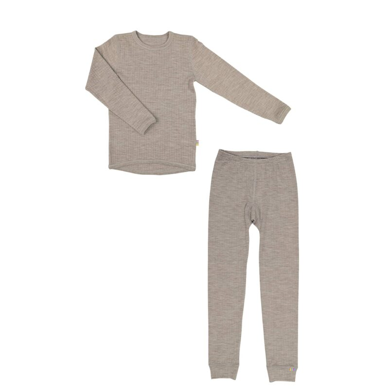 Skiundertøj til barn i merinould. Sesam uld fra Joha.
