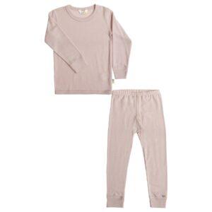 Nattøj sæt fra Joha i støvet rosa 100% merinould. Lange underbukser og langærmet undertrøje.