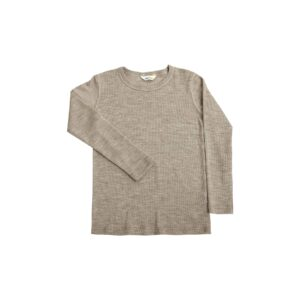 Joha skiundertrøje i gammel valnødefarvet uld silke. Brug som nattrøje eller skiundertrøje.