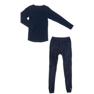 Joha skiundertøj sæt til børn. Blå merinould.