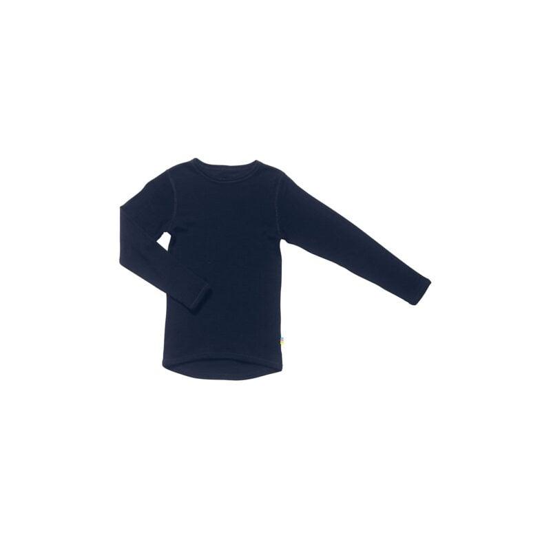 Joha nattrøje i blå 100% merinould. God som skiundertrøje.