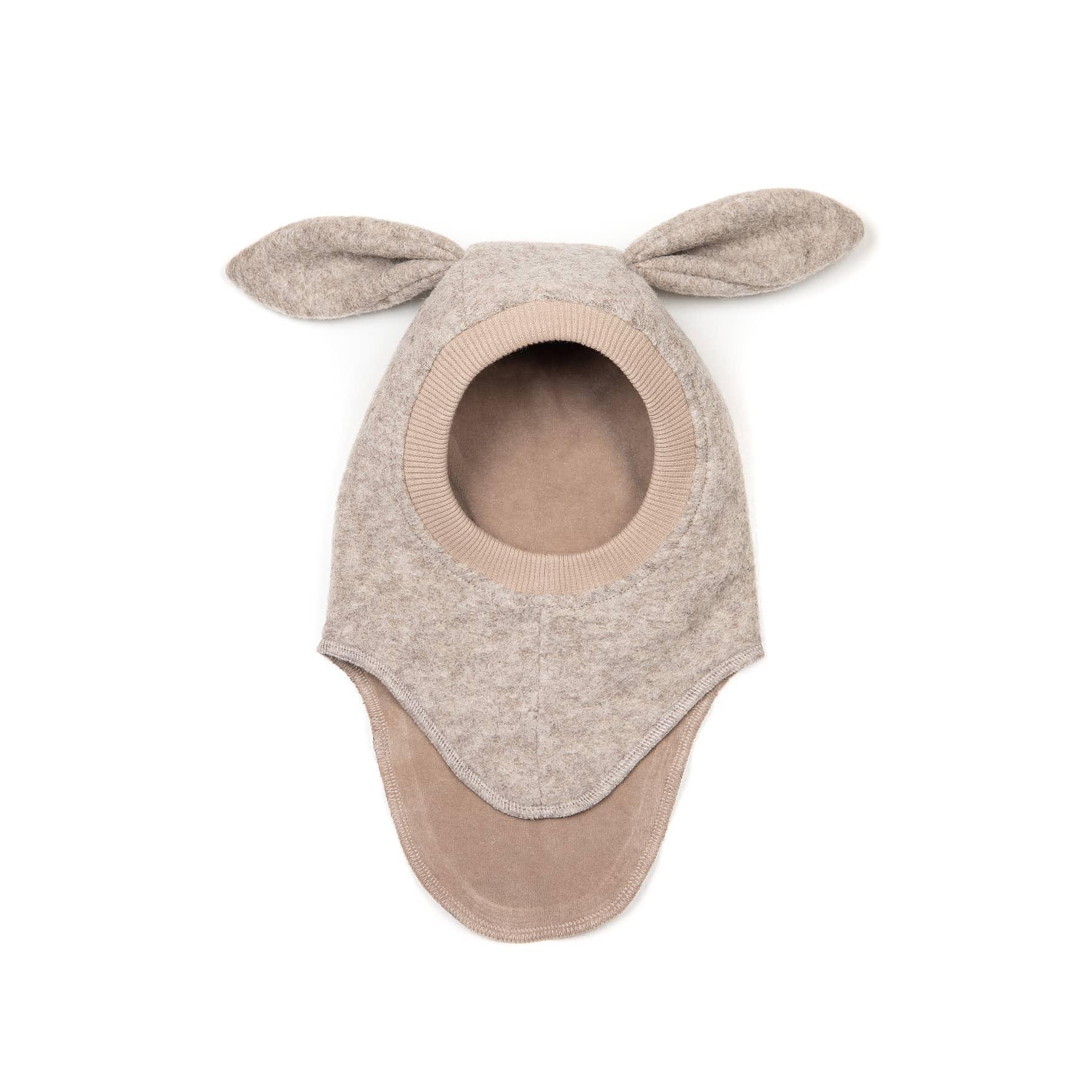 Huttelihut elefanthue med lange ører. Camel-farveuld