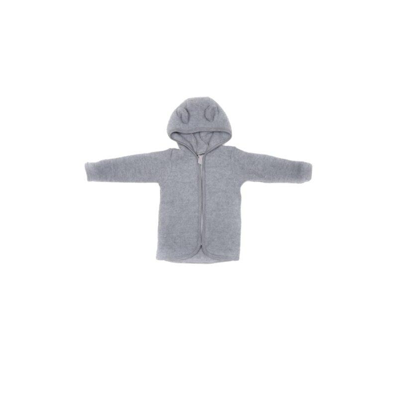 Huttelihut uldfleece jakke til barn. Grå.