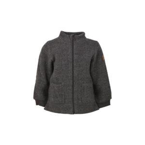 Mikk-Line uldjakke i mørkegrå kogt uld.