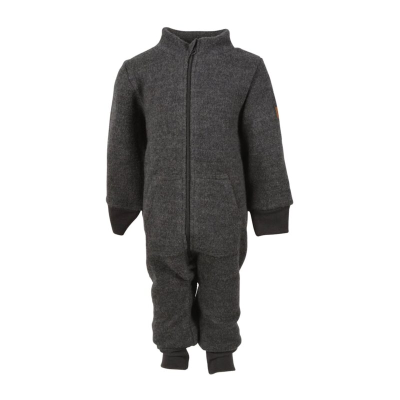 Mikk-Line køredragt i kogt uld. 100% merinould i mørkegrå.
