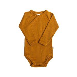 Body til for tidligt født. Body i karry merinould fra Joha.