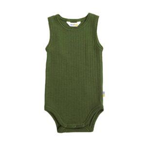 Joha body uden ærmer. Sommerbody i uld. Grøn.