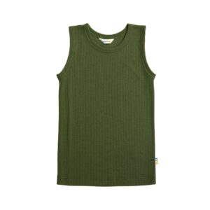 Joha undertrøje til barn. Grøn merinould.