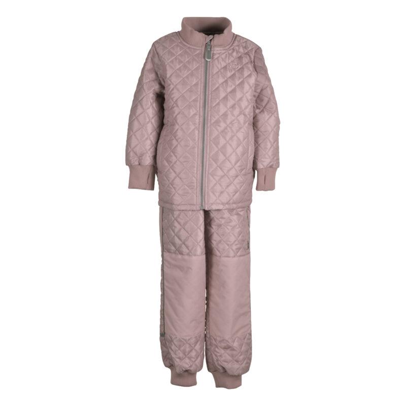 Mikk-Line termotøj. Sæt bestående af termobukser og termojakke i rosa.