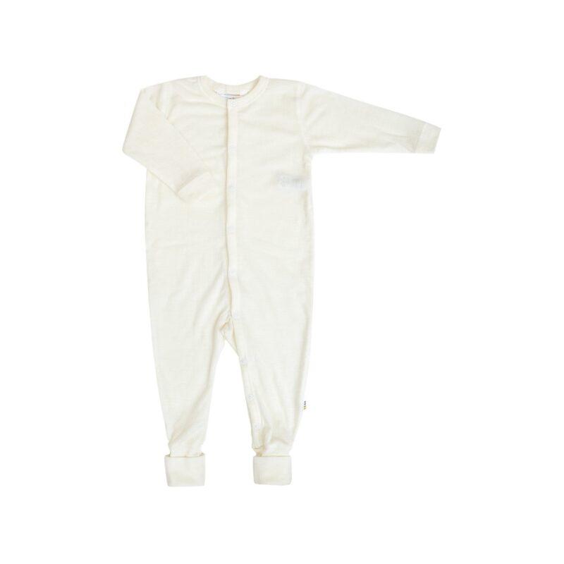 Joha natdragt til for tidligt født. Natdragt i hvid uld.