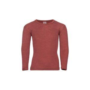 Nattrøje i uld silke fra Engel. Bæredygtig kvalitet i kobber-farve