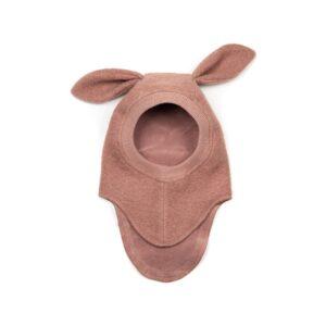 Huttelihut elefanthue med lange ører. Gammelrosa uld