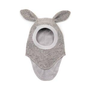 Huttelihut bunny elefanthue. Grå med lange ører. 2 lag.